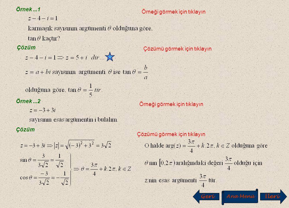 A. Karmaşık Sayıların Kutupsal Gösterimi A. Karmaşık Sayıların Kutupsal Gösterimi O x y b a. M(a,b) IzI H  Yukarıda ifade edilen eşitlikleri sağlayan