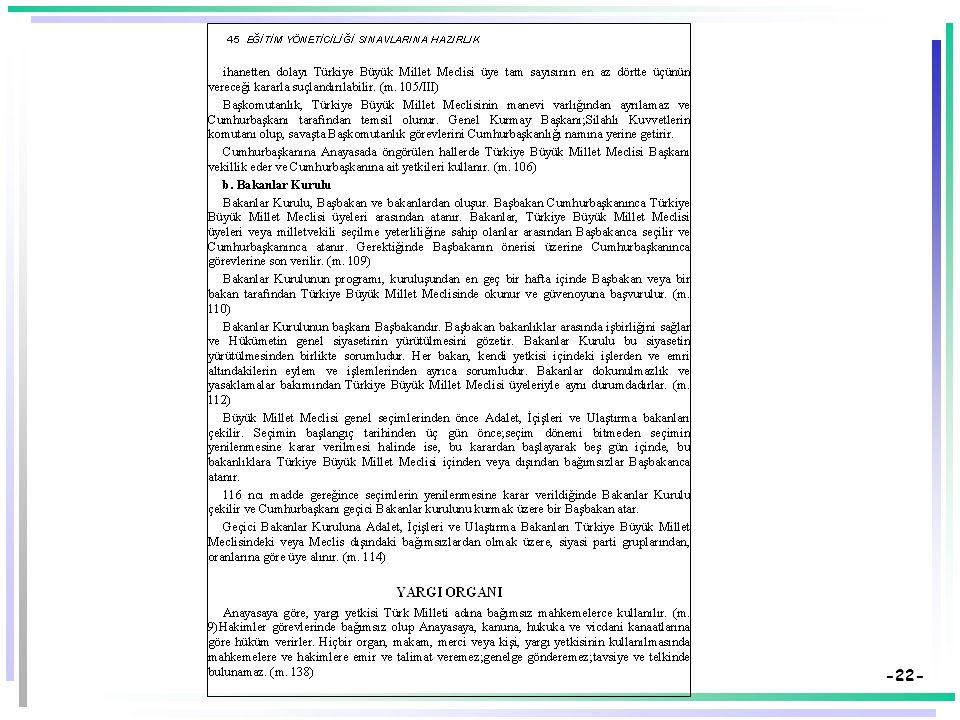 -21- Basılı Bir Metni Aynen Kullanmanın Yaratabileceği Sakıncalar  Kitap veya dergiden alınan bölüm, yansılarda önerilen kullanım biçiminin aksine yatay değil dikey olabilir.