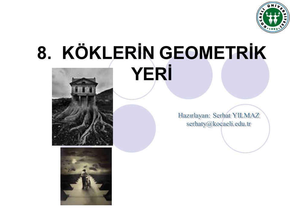 Serhat YILMAZ, serhaty@kocaeli.edu.tr Örnek8.3: Şekil.8.2' deki sistemi tekrar ele alalım.