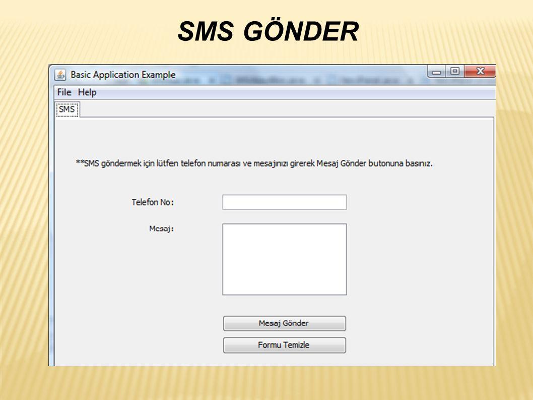 SMS GÖNDER