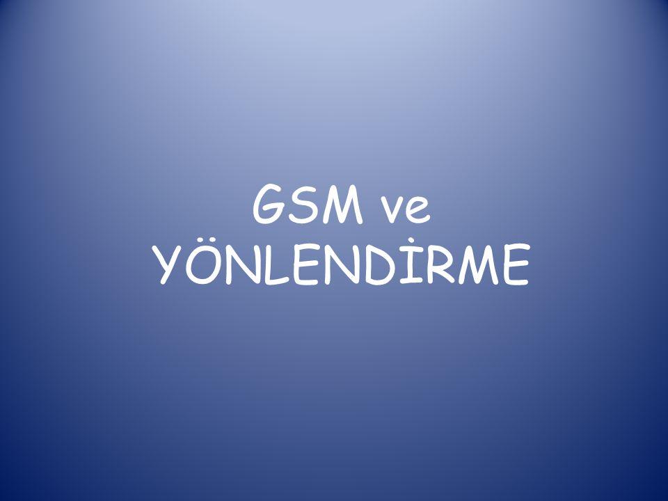 GSM ( Global System for Mobile Communications ) küresel mobil iletişim sistemi (cep telefonu iletişim protokolü)