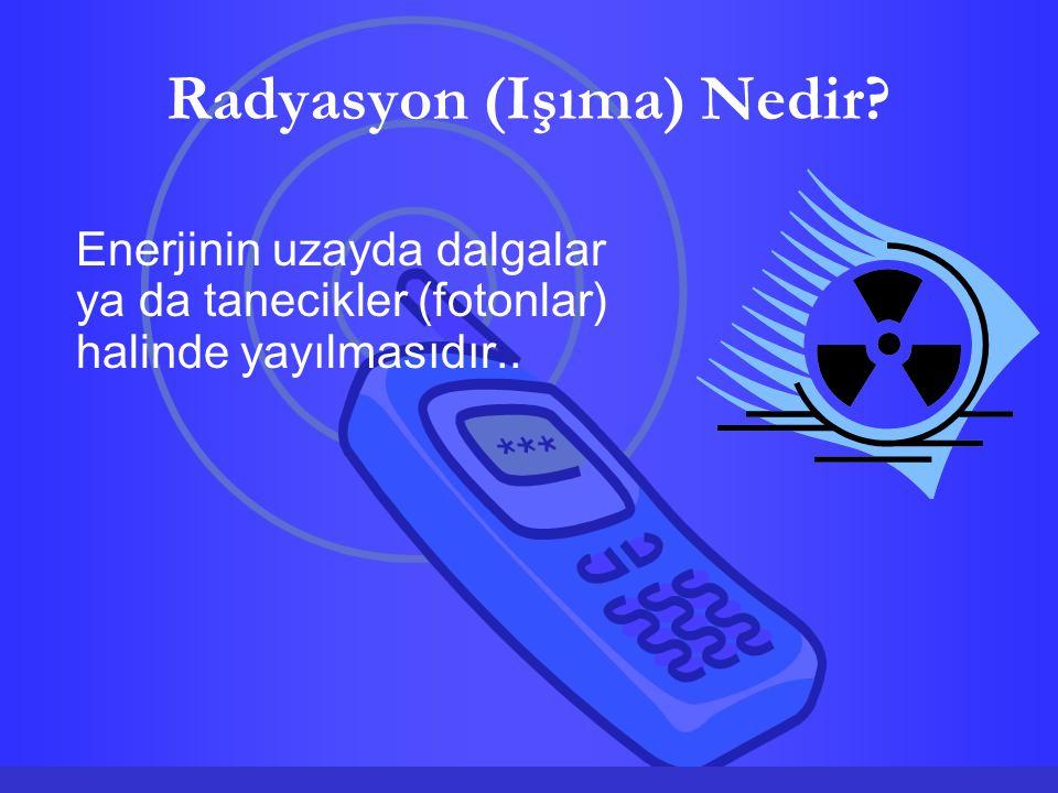 Radyasyon (Işıma) Nedir? Enerjinin uzayda dalgalar ya da tanecikler (fotonlar) halinde yayılmasıdır..