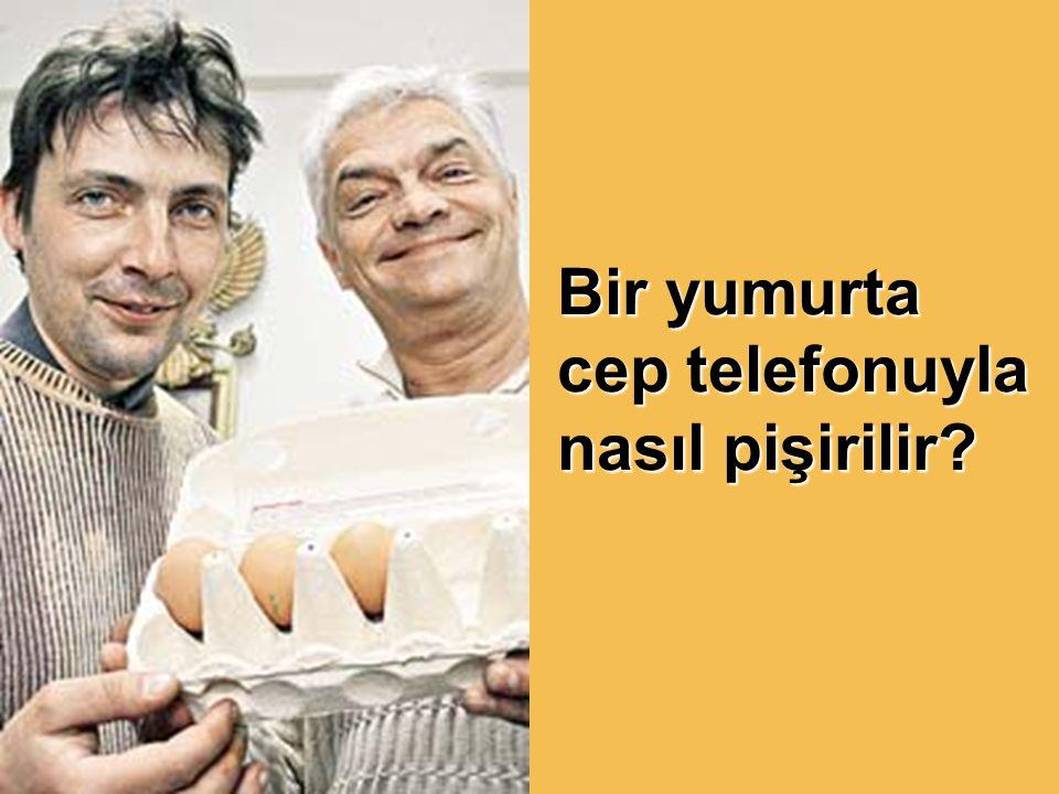 İki Rus gazeteci bir yumurtayı cep telefonuyla pişirdiler.
