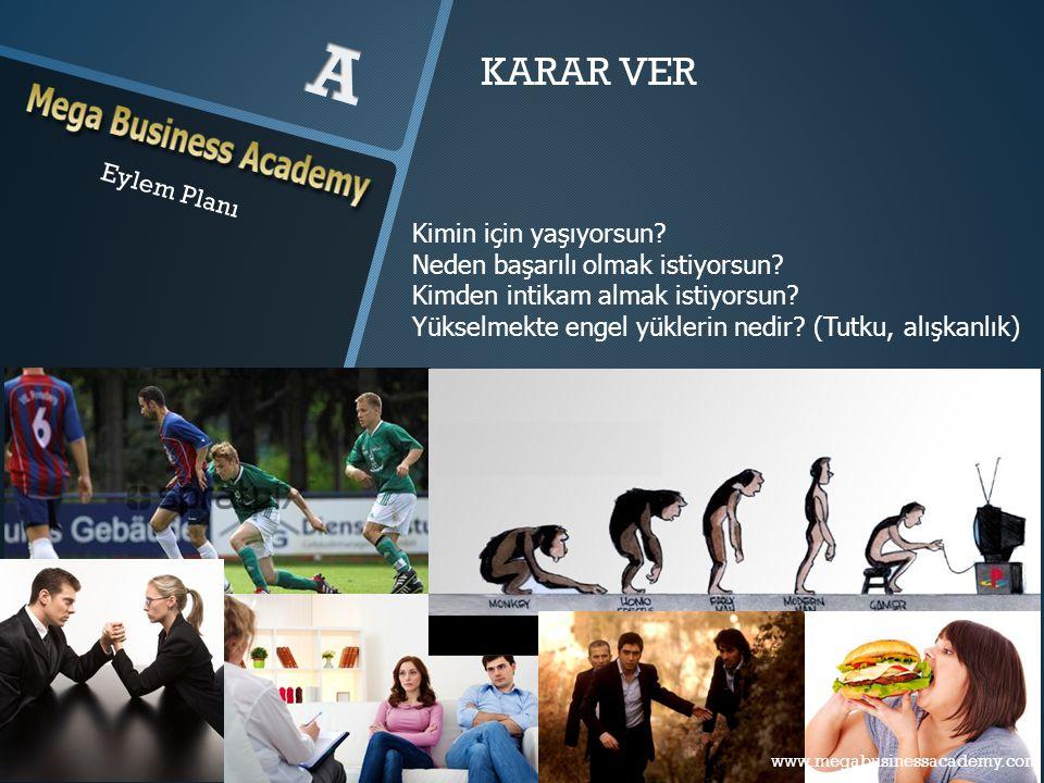 Eylem Planı www.megabusinessacademy.com – Eylem Planı KARAR VER Kimin için yaşıyorsun? Neden başarılı olmak istiyorsun? Kimden intikam almak istiyorsu