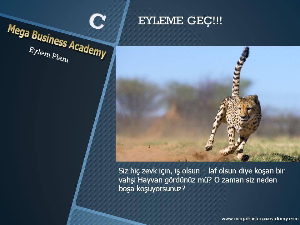 Eylem Planı EYLEME GEÇ!!! Siz hiç zevk için, iş olsun – laf olsun diye koşan bir vahşi Hayvan gördünüz mü? O zaman siz neden boşa koşuyorsunuz? www.me