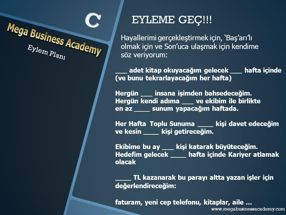 www.megabusinessacademy.com – Eylem Planı www.megabusinessacademy.com