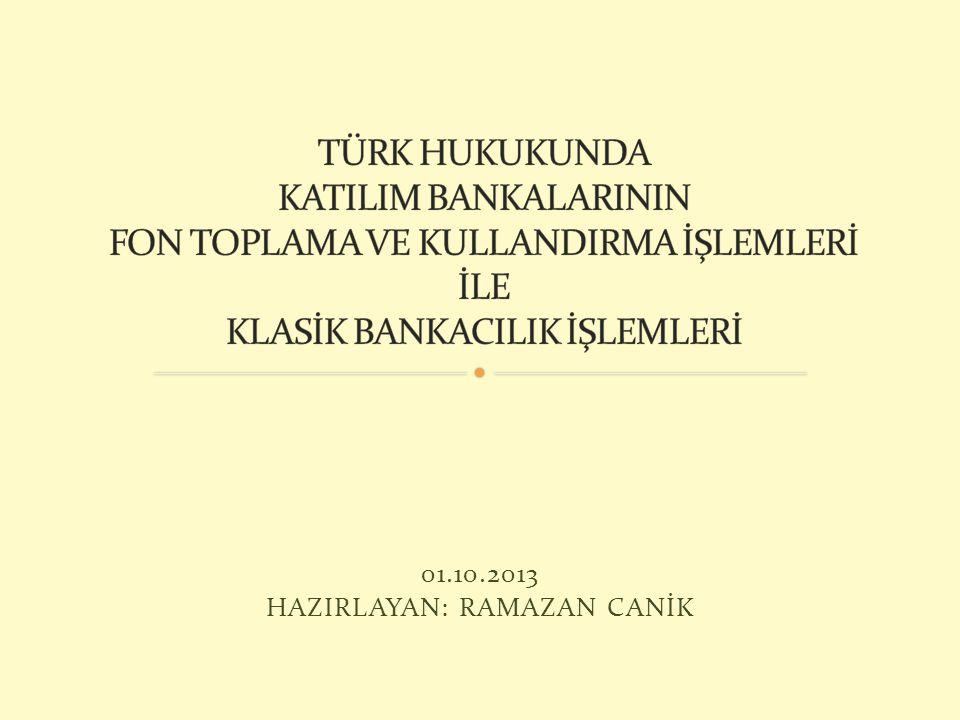 5411 Sayılı Bankacılık Kanunun'da mevduatın, özel cari hesabın ve katılma hesabın tanımı yapılmıştır.