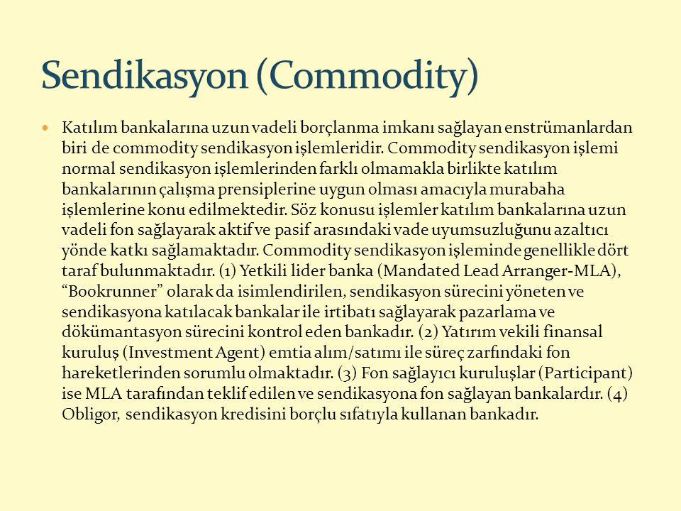 Katılım bankalarına uzun vadeli borçlanma imkanı sağlayan enstrümanlardan biri de commodity sendikasyon işlemleridir. Commodity sendikasyon işlemi nor