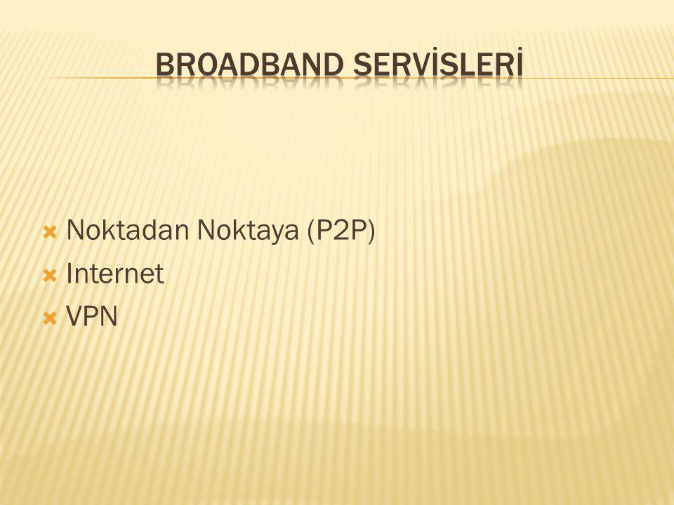  Noktadan Noktaya (P2P)  Internet  VPN