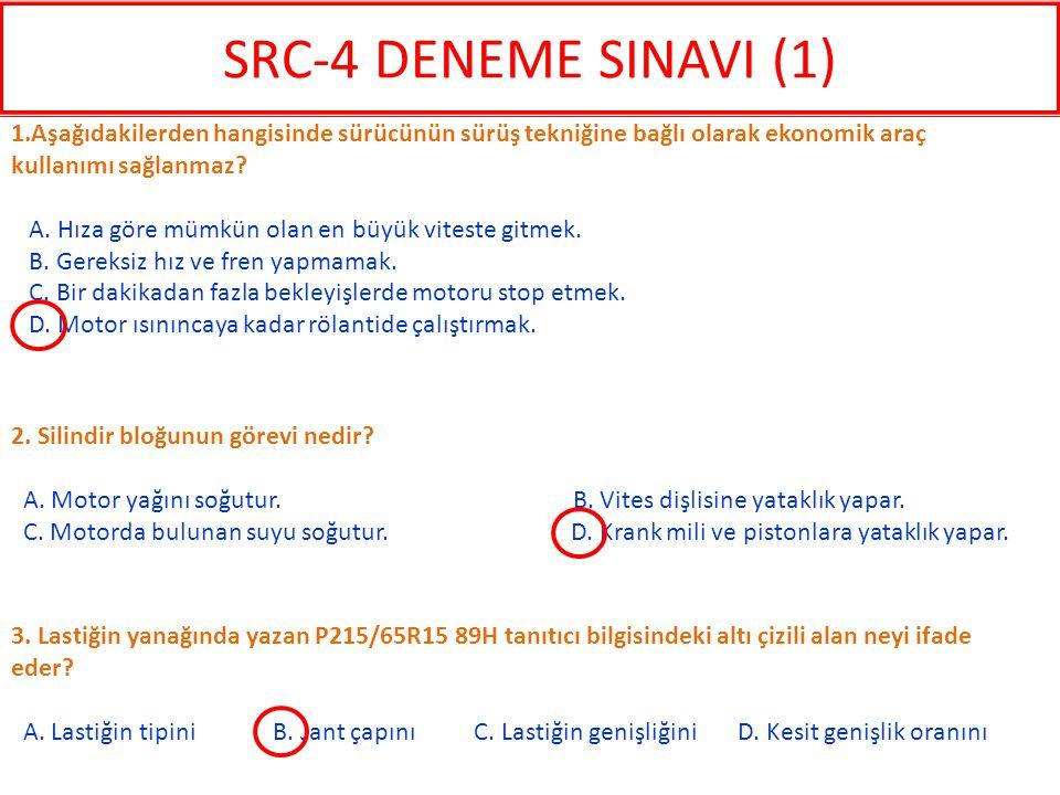 3.Lastiğin yanağında yazan P215/65R15 89H tanıtıcı bilgisindeki altı çizili alan neyi ifade eder.