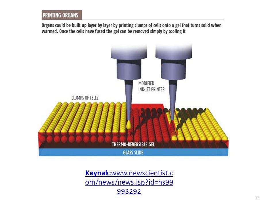 Kaynak:www.newscientist.c om/news/news.jsp?id=ns99 993292 12