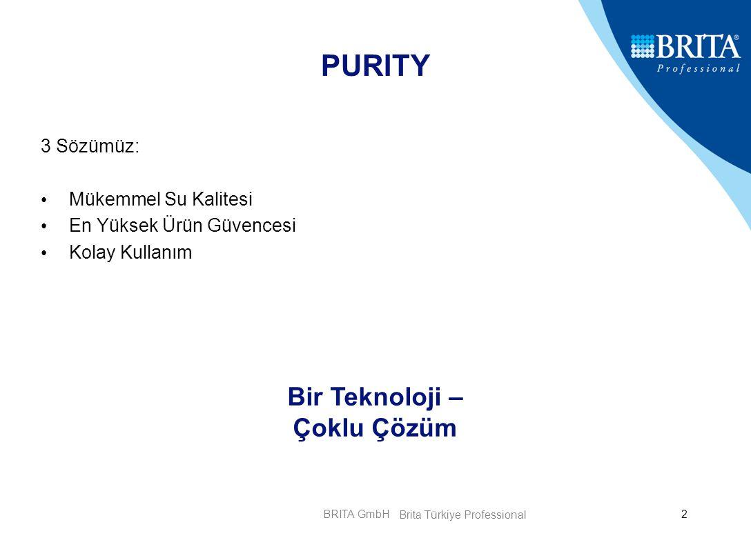BRITA GmbH3 PURITY Teknolojisi Mükemmel Su Kalitesi Su Akım Yolu Teknolojik yenilik : Filtre Sisteminin içinde bulunan Su Akım Yolu düzensiz Filtrasyonu önlemektedir.