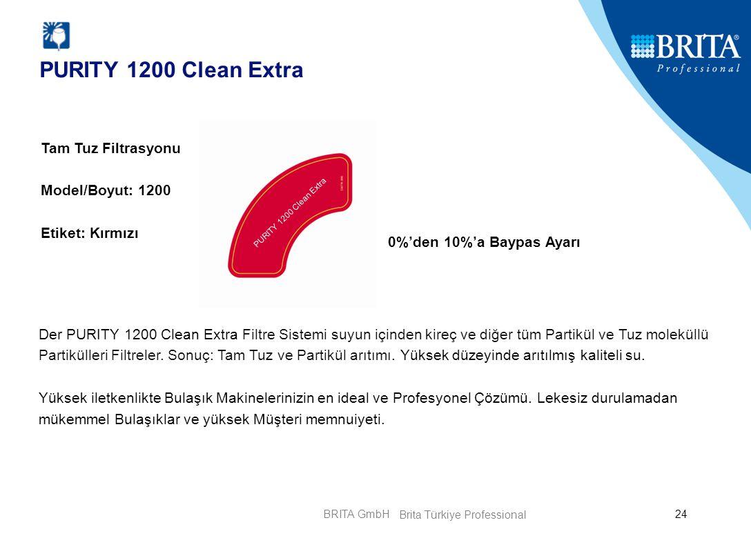 BRITA GmbH24 PURITY 1200 Clean Extra 0%'den 10%'a Baypas Ayarı Tam Tuz Filtrasyonu Model/Boyut: 1200 Etiket: Kırmızı Der PURITY 1200 Clean Extra Filtr