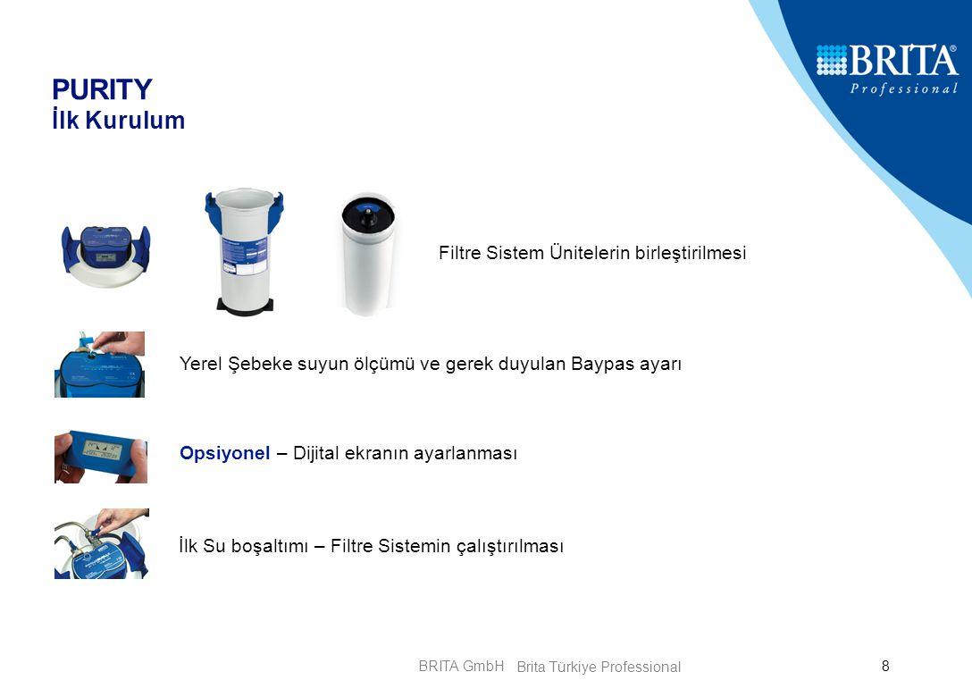 BRITA GmbH29 PURITY Quell GY Kireç değil Alçı ve Taş Minerali Problemi.