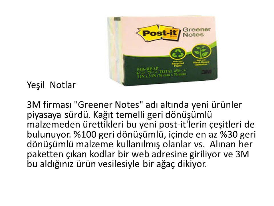 Yeşil Notlar 3M firması