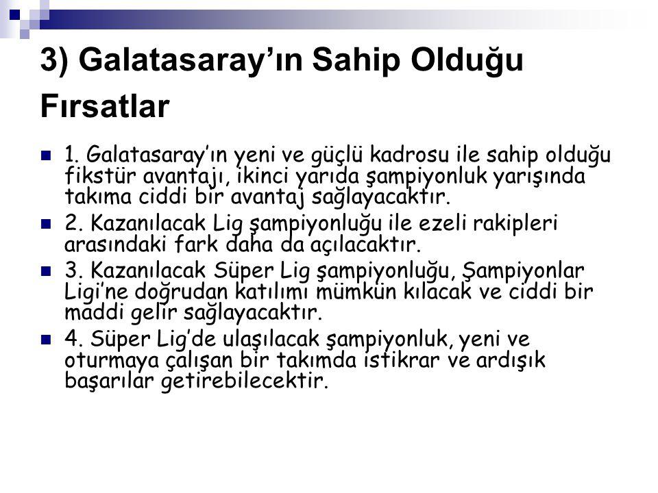 4) Galatasaray'ın Karşı Karşıya Kalacağı Olası Tehdit ve Riskler 1.