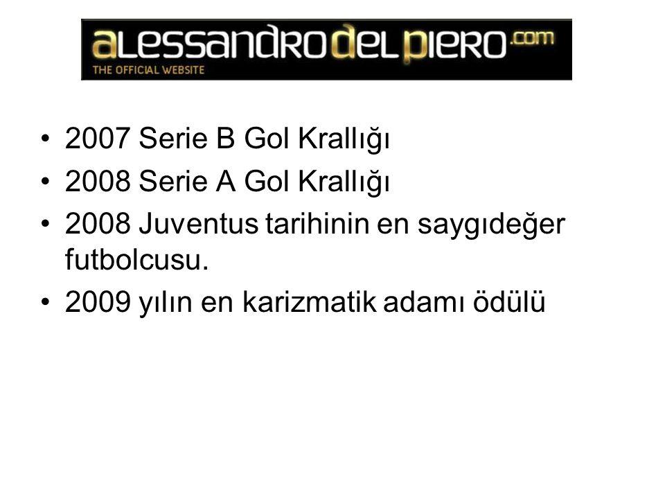 2007 Serie B Gol Krallığı 2008 Serie A Gol Krallığı 2008 Juventus tarihinin en saygıdeğer futbolcusu.
