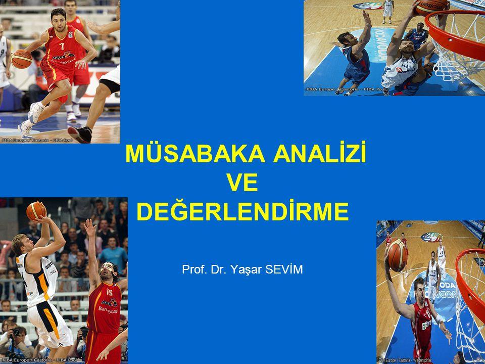 MÜSABAKA ANALİZİ VE DEĞERLENDİRME Prof. Dr. Yaşar SEVİM
