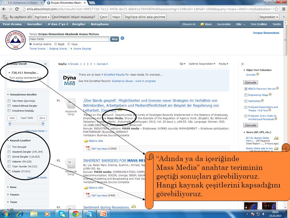 Adında ya da içeriğinde Mass Media anahtar teriminin geçtiği sonuçları görebiliyoruz.
