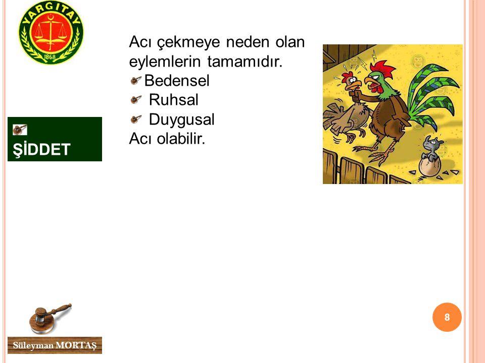 9 Süleyman MORTA Ş ŞİDDETİN GÖRÜNÜM ŞEKİLLERİ En bilineni ve en çok uygulanan fiziksel şiddettir.