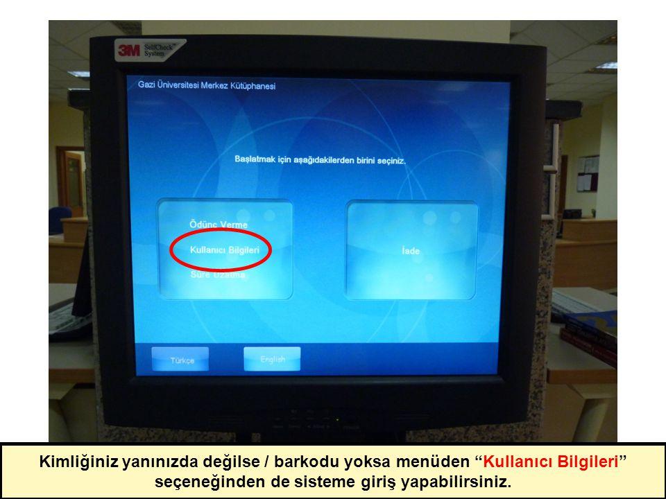 Kullanıcı bilgileri ekranından Süre Uzatma seçeneğine dokununuz.