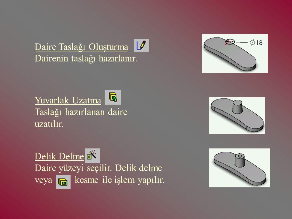 SW KALIP TASARIMI 1-Parça Kütüğü Çıkarılması: New Part komutu seçilir.