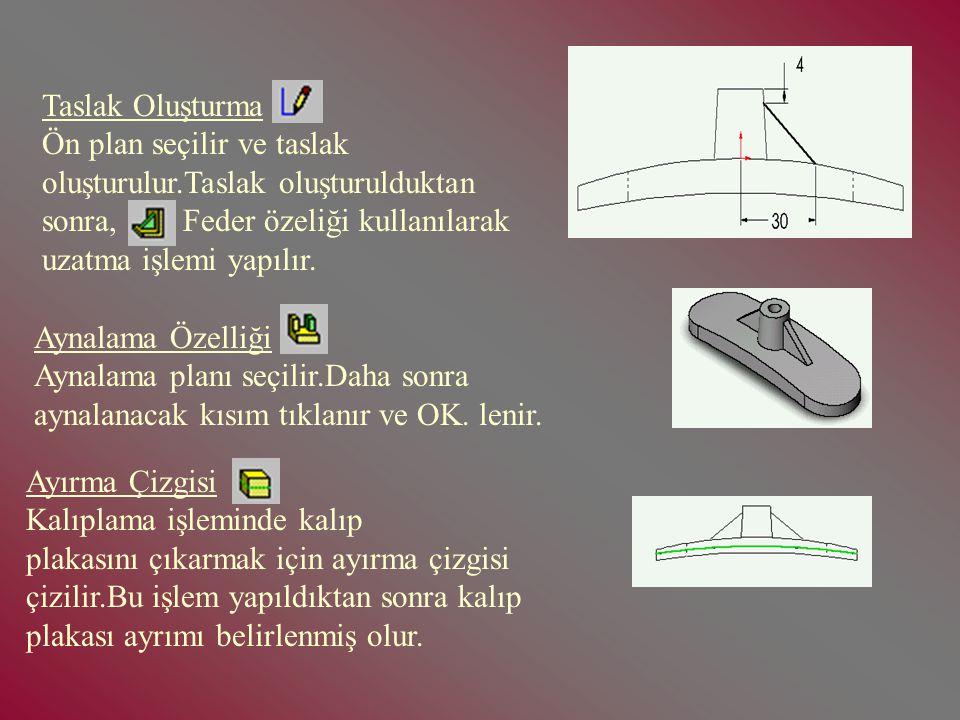 2- Cavity (Boşluk) Oluşturma: Cavity ikonu tıklanır,daha sonra dizayn ağacına gelerek kalıplanacak parça tasarımı seçilir.