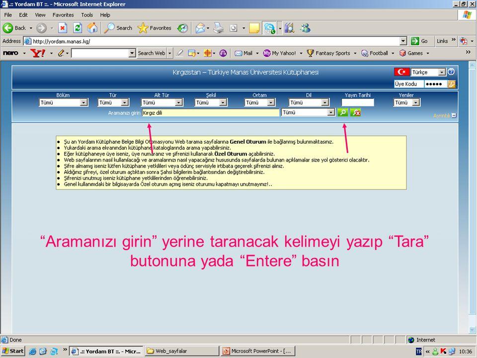 Gördüğünüz gibi Türk dilindeki, Kampüs salonunda bulunan, 2004-2006 tarihleri arasında yayınlanmış Ekonomi konusundaki kitapların listesi görüntülenmiştir.