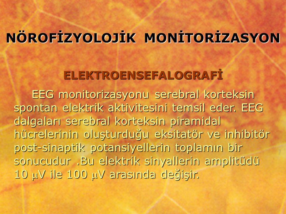 ElektrodlarAmplifikatörFiltre Gösterici modül Dahili bilgisayar Elektrokortikogram (EcoG) : Epilepsi cerrahisi gibi özel cerrahi işlemler sırasında serabral kortekse izotonik ile ıslatılmış pamuk çubukların direkt olarak serebral kortekse uygulanmasına denir.
