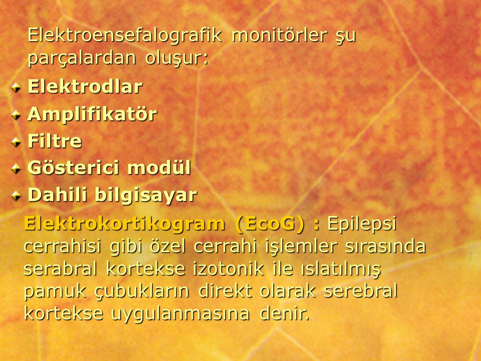 Dört temel EEG ritmi veya frekans paterni mevcuttur.