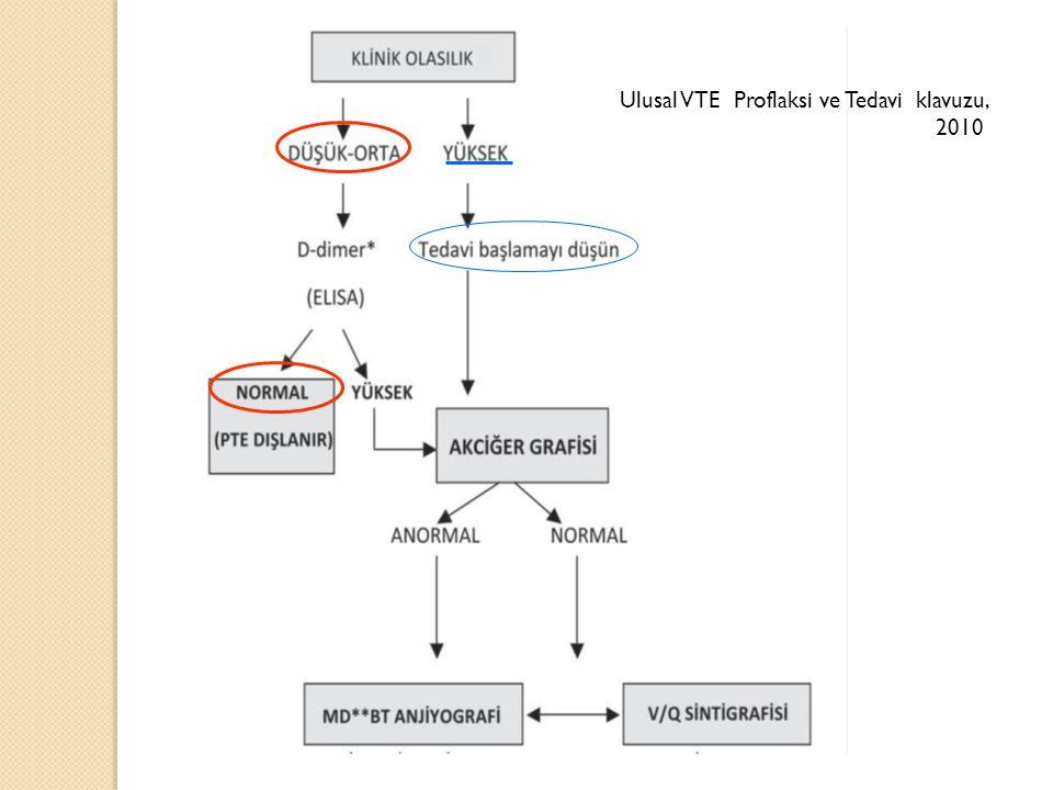 Ulusal VTE Proflaksi ve Tedavi klavuzu, 2010