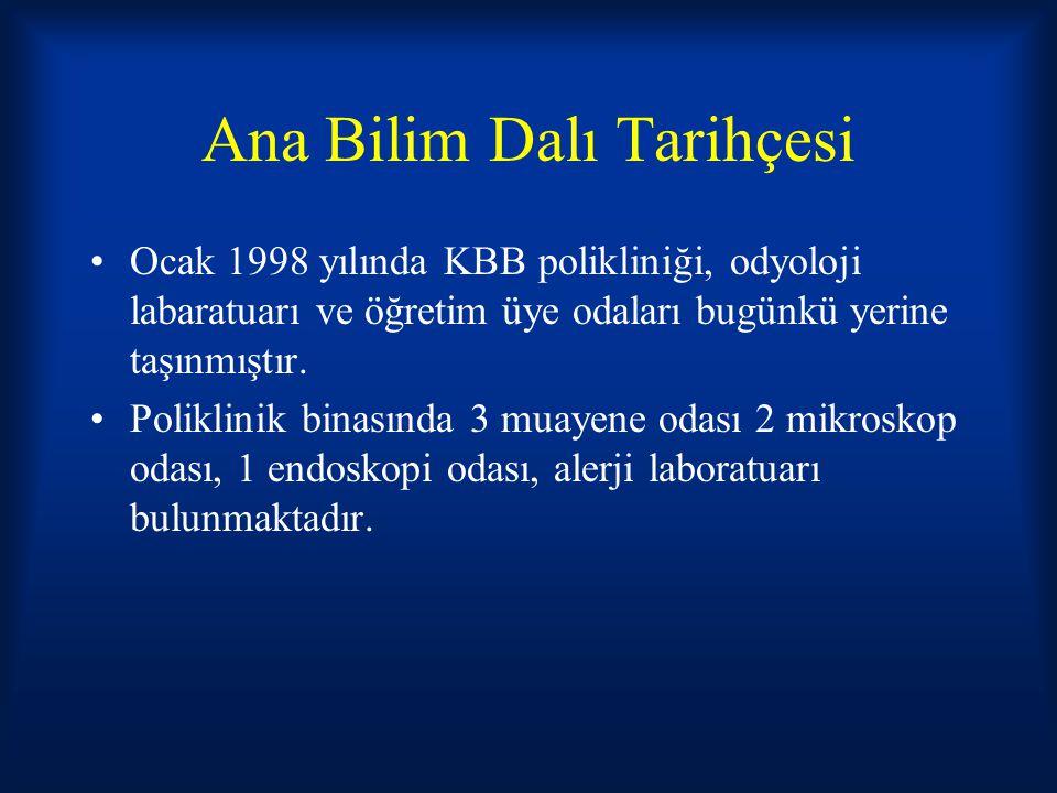 İstanbul Tıp Fakültesi Cerrahpaşa Tıp Fakültesi KBBABD Öncü İşlemler 1962 yılında Prof.Dr.Hikmet Altuğ tarafından Türkiye'nin KBB uzmanlık dalında ilk tıp dergisi olan Turk Otolaringoloji Arşivi Dergisi çıkarılmıştır.Dergi günümüze kadar halen düzenli olarak yayınlanmaktadır.