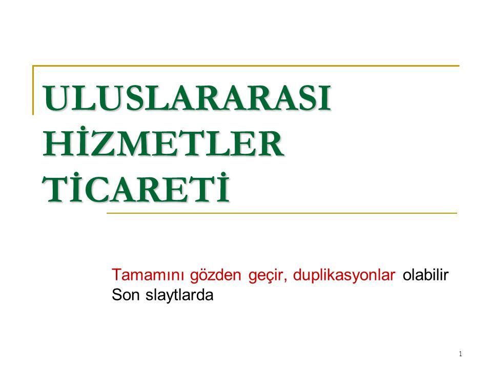 22 ULUSLARARASI HİZMETLER TİCARETİ GENEL ANLAŞMASI: GATS GATS Üyelerinin Yükümlülükleri GATS Üyelerinin Yükümlülükleri a.
