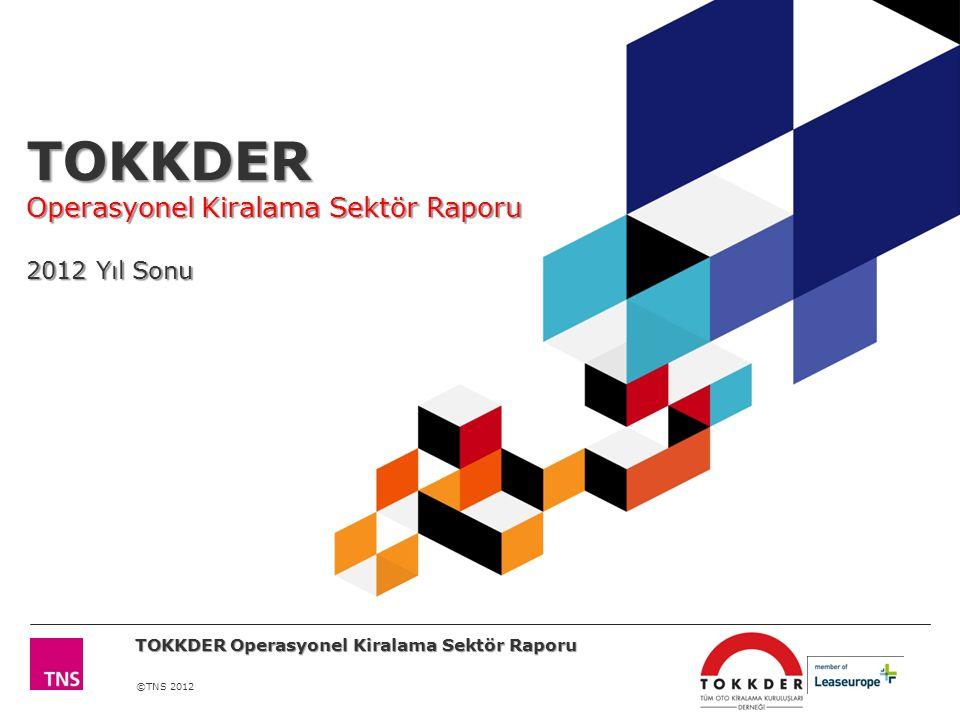 ©TNS 2012 TOKKDER Operasyonel Kiralama Sektör Raporu 2012 Yıl Sonu TOKKDER Operasyonel Kiralama Sektör Raporu
