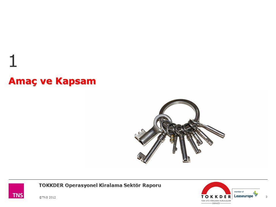 ©TNS 2012 Amaç ve Kapsam 1 3 TOKKDER Operasyonel Kiralama Sektör Raporu