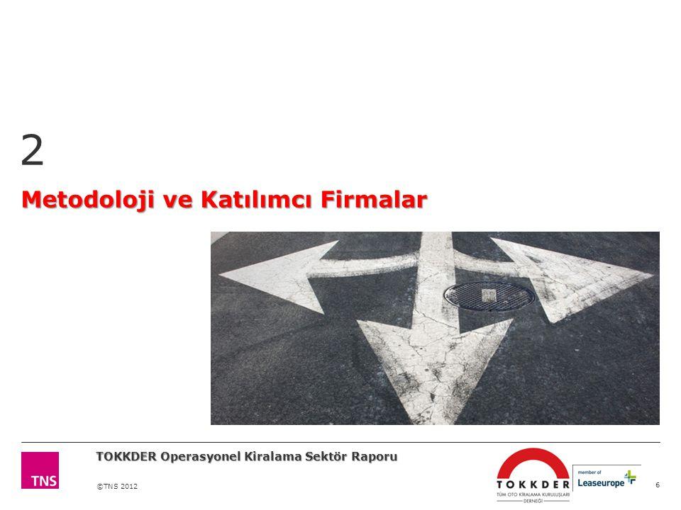 ©TNS 2012 Metodoloji ve Katılımcı Firmalar 2 6 TOKKDER Operasyonel Kiralama Sektör Raporu