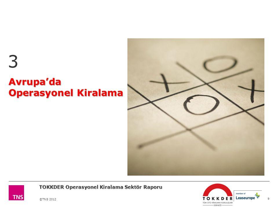 ©TNS 2012 Avrupa'da Operasyonel Kiralama 3 9 TOKKDER Operasyonel Kiralama Sektör Raporu