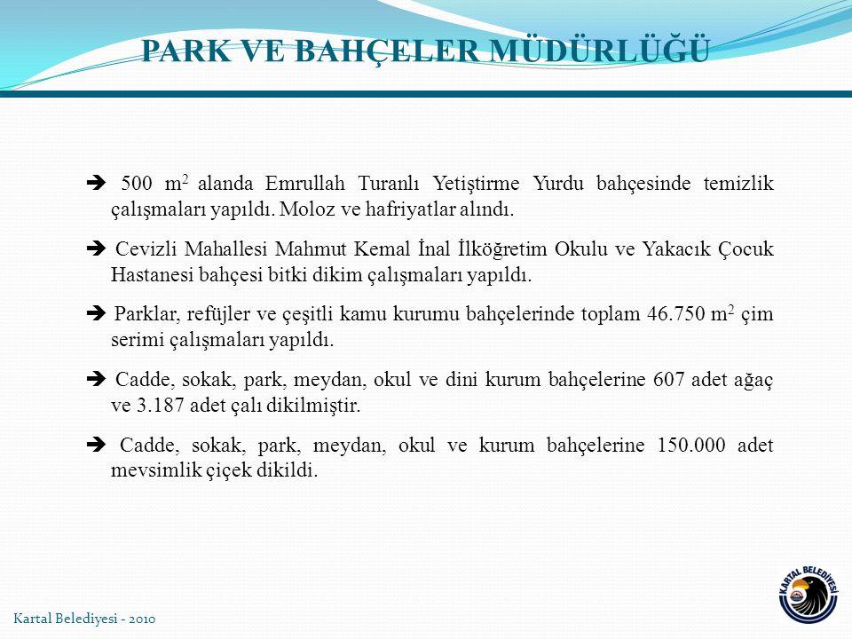  500 m 2 alanda Emrullah Turanlı Yetiştirme Yurdu bahçesinde temizlik çalışmaları yapıldı. Moloz ve hafriyatlar alındı.  Cevizli Mahallesi Mahmut Ke