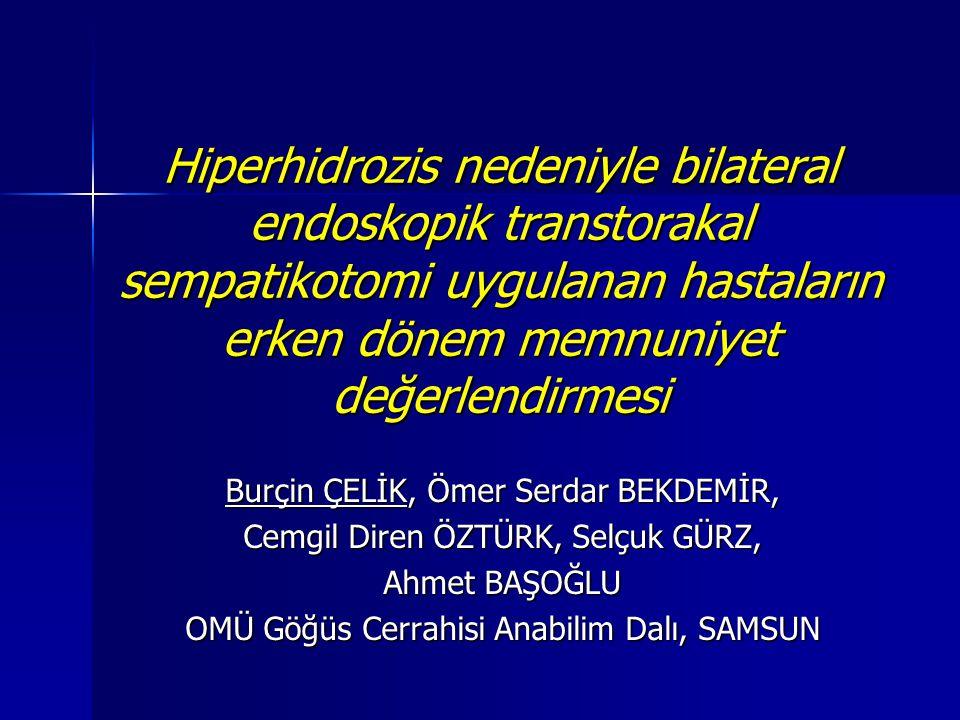 Etiyoloji  Primer Hiperhidrozis (Esansiyel, İdiopatik)  Sekonder Hiperhidrozis