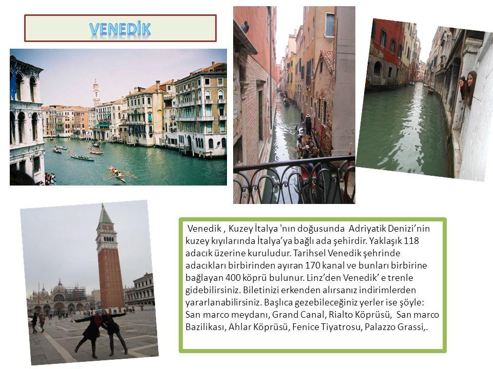 Venedik, Kuzey İtalya 'nın doğusunda Adriyatik Denizi'nin kuzey kıyılarında İtalya'ya bağlı ada şehirdir. Yaklaşık 118 adacık üzerine kuruludur. Tarih