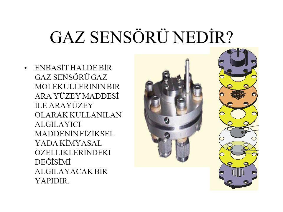 BİR SENSÖRÜN TEMEL BİLEŞENLERİ!!! Sensör analiz edilen türe özgü belli bir sinyal elde edebilmeli Sensör analiz edilen(hedef) türün değişimindeki deği