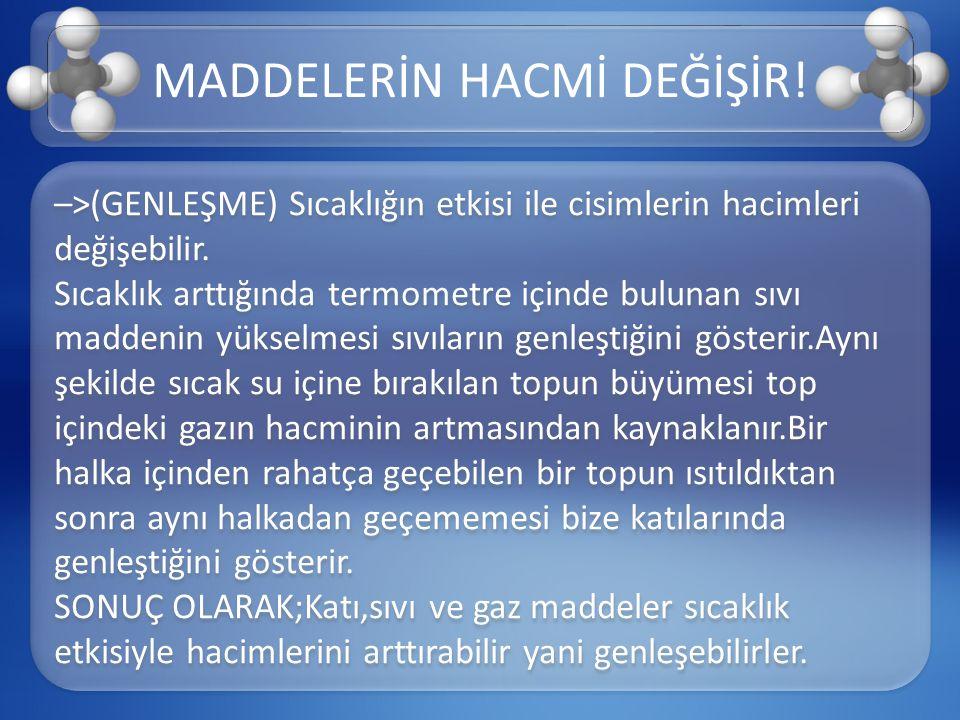 Genel olarak;aynı tür taneciklerden (aynı tür atom veya aynı tür molekül) oluşan maddelere SAF MADDE denir.
