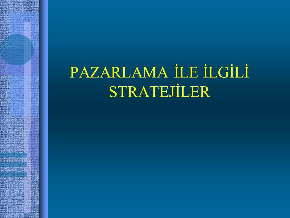 Yoğunlaşarak Büyüme Stratejileri Ürün-Pazar Matrisi H. Igor Ansoff Matrisi