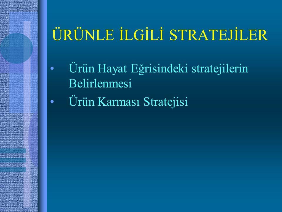 ÜRÜNLE İLGİLİ STRATEJİLER Ürün Hayat Eğrisindeki stratejilerin Belirlenmesi Ürün Karması Stratejisi