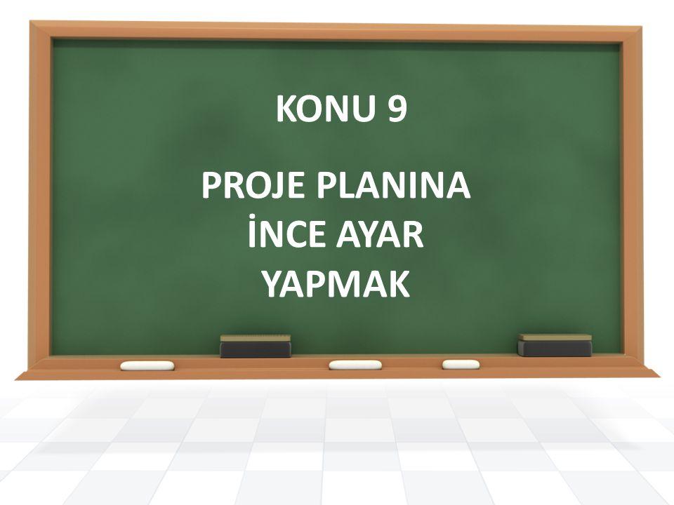 KONU 9 PROJE PLANINA İNCE AYAR YAPMAK