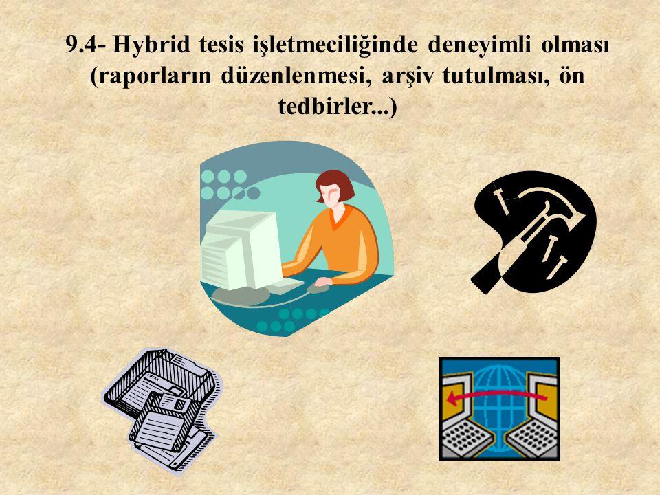 9.3- Uluslararası ilişkilerinin olması (Literatür takibi, fuar, konferans, seminer, temsilcilik..)