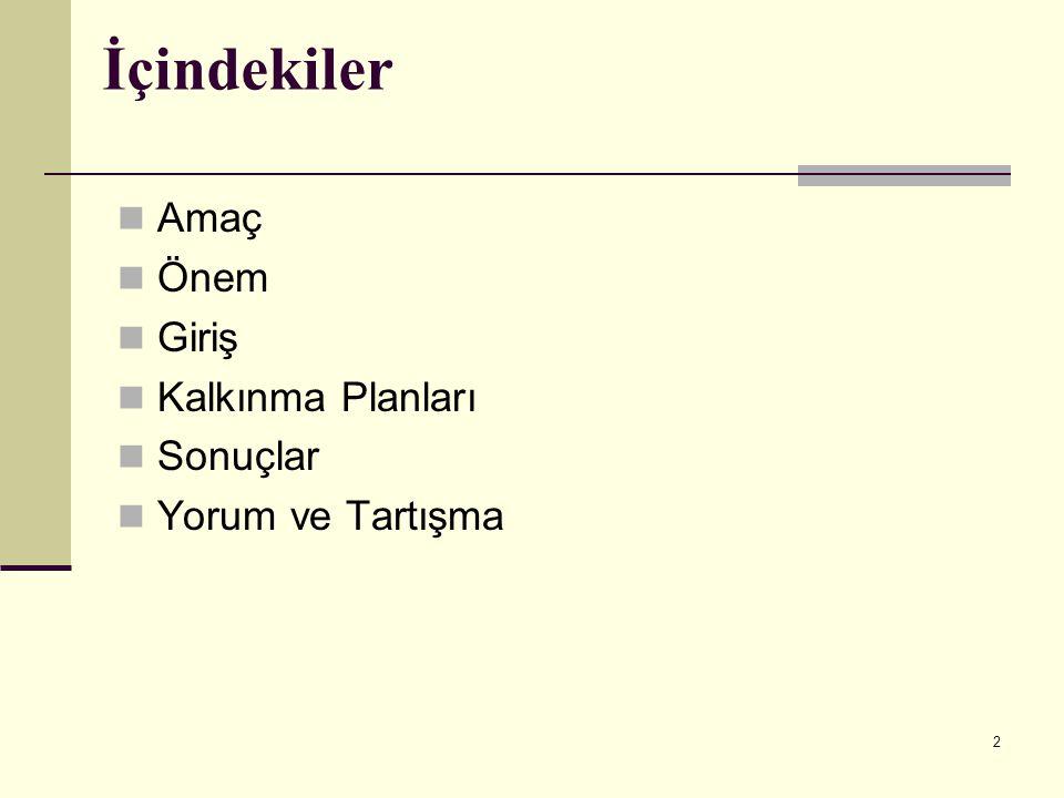 23 Dokuzuncu Beş Yıllık Kalkınma Planı (2007–2013) Türkiye Araştırma Alanı Programı kapsamında 2005 yılında TÜBİTAK tarafından, Akademik ve Uygulamalı AR-GE Destek , Kamu AR-GE Destek , Sanayi AR-GE Destek , Savunma ve Uzay AR-GE Destek , Bilim ve Teknoloji Farkındalığını Artırma ve Bilim İnsanı Yetiştirme ve Geliştirme Programları uygulamaya geçirilmiştir.