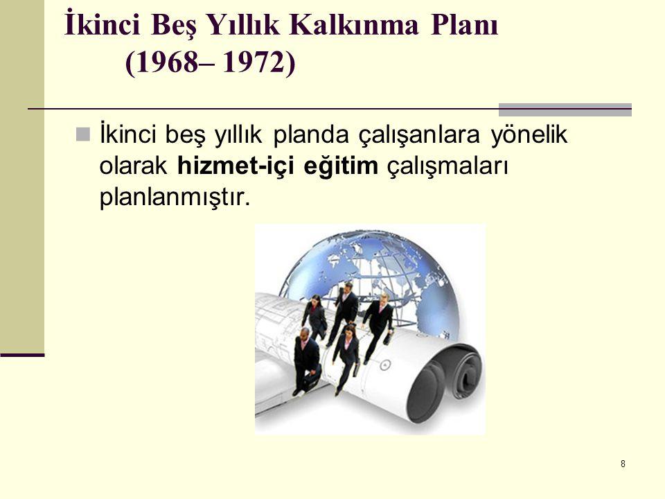 19 Yedinci Beş Yıllık Kalkınma Planı (1996–2000) Yedinci beş yıllık planda yeni teknolojilerin, özellikle bilgi ve iletişim teknolojilerindeki hızlı gelişmenin, ekonomik ve sosyal yaşamdaki değişimin nesnel tabanını oluşturduğu belirtilmiştir.