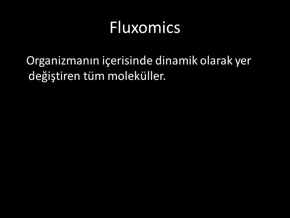Fluxomics Organizmanın içerisinde dinamik olarak yer değiştiren tüm moleküller.