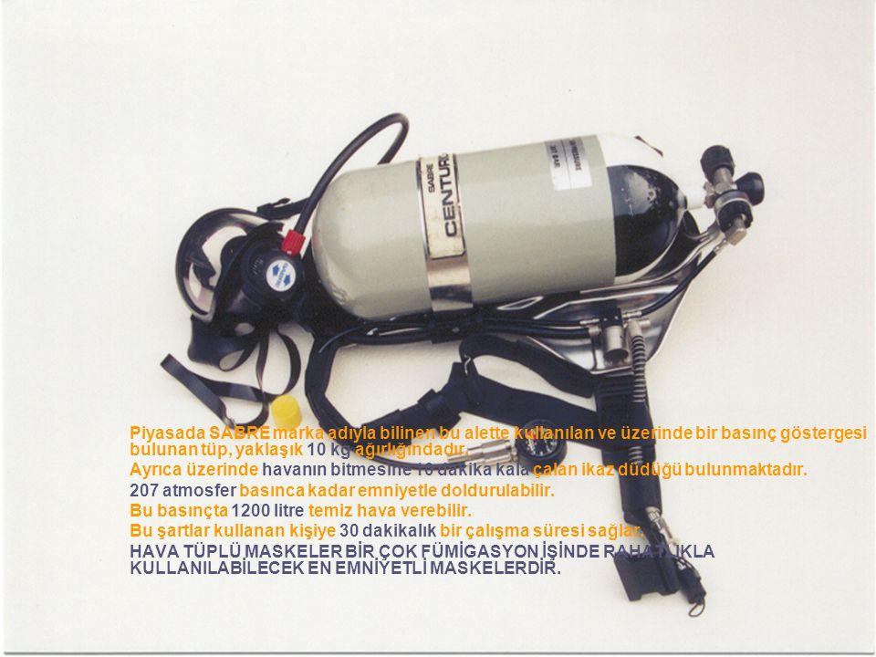 Piyasada SABRE marka adıyla bilinen bu alette kullanılan ve üzerinde bir basınç göstergesi bulunan tüp, yaklaşık 10 kg ağırlığındadır.